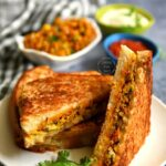 Easy Egg Bhurji Sandwich Recipe