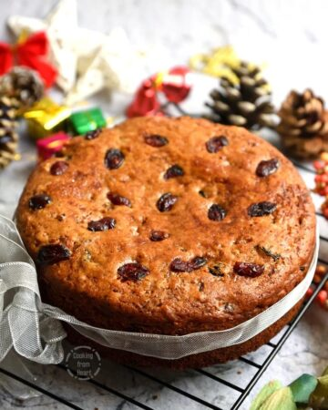 Eggless Christmas Plum Cake Recipe