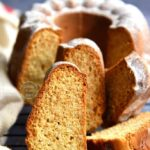 Eggless Vanilla Pound Cake using condensed milk