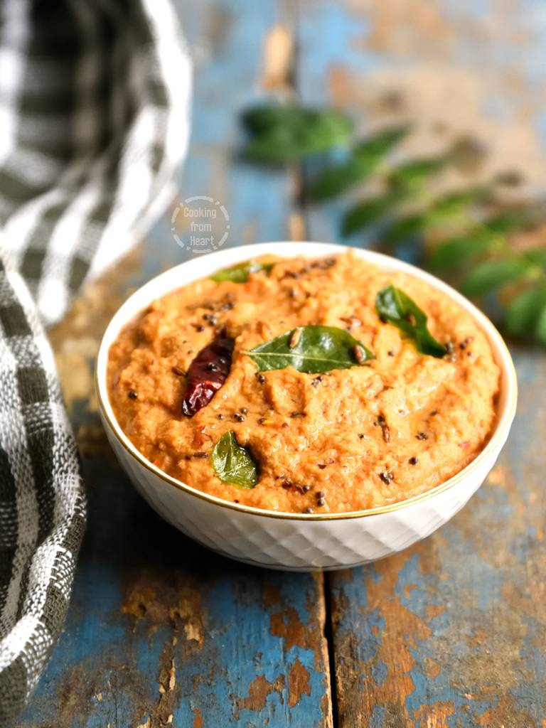 Onion Tomato Peanut Chutney Recipe