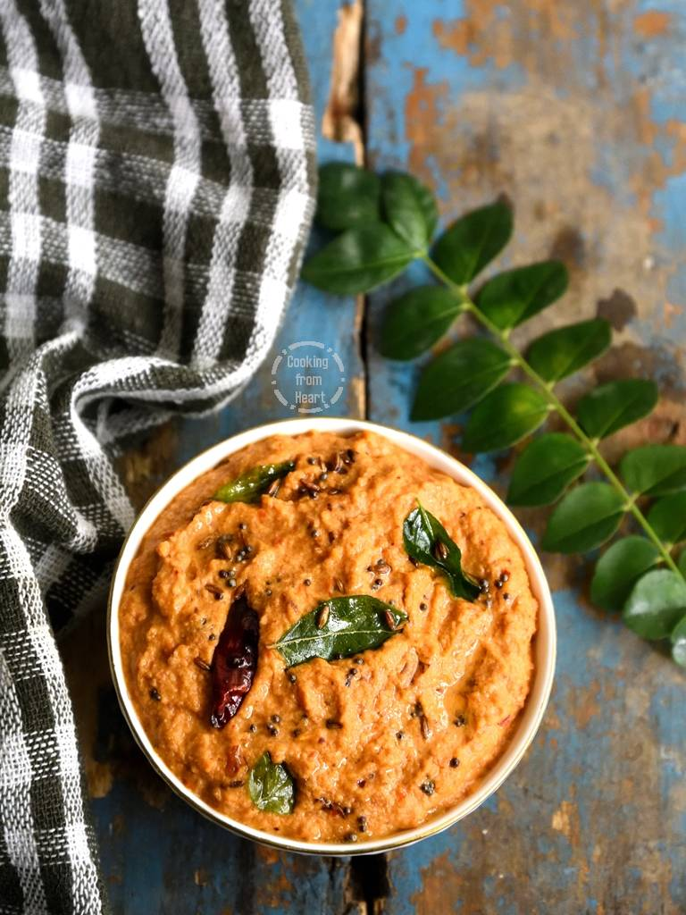 Easy Peanut Onion Tomato Chutney Recipe