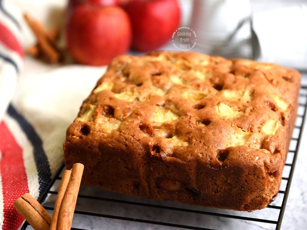 How to make Eggfree Apple Cinnamon Butterscotch Cake