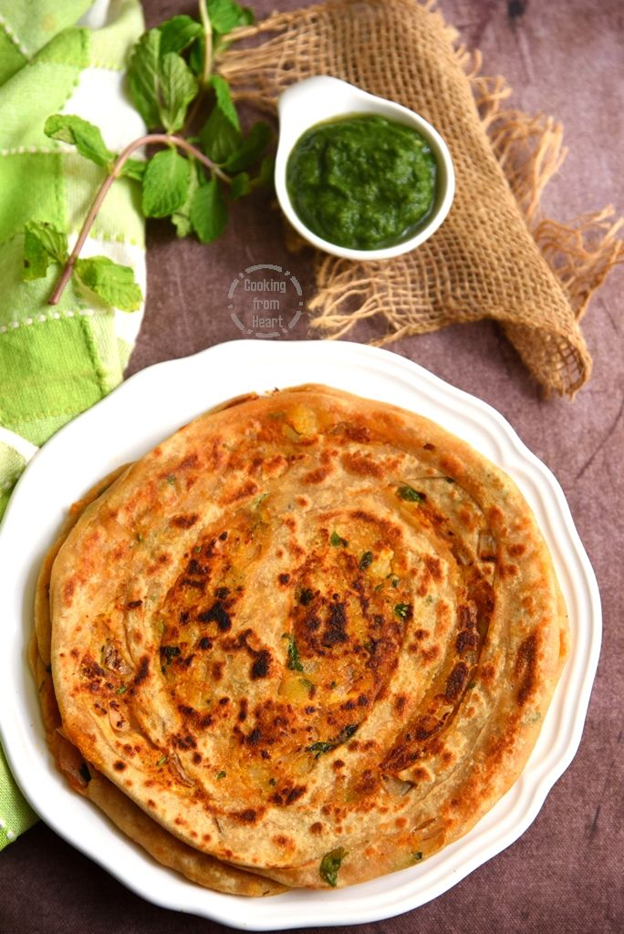Stuffed Laccha Paratha Recipe