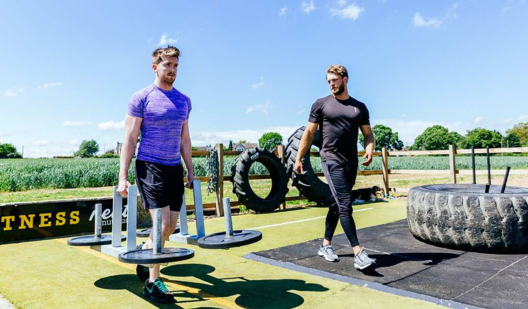 Flipping tyres at Farm Fitness