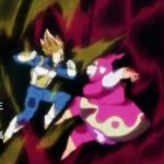 Vegeta and Rebrianne de Chateau fighting in the tournament of power