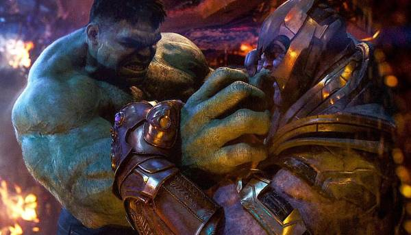 Hulk vs Thanos Powers Without Gauntlet fight