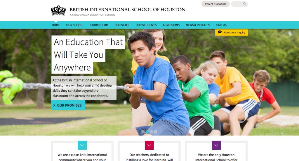 British International School of Houston homepage