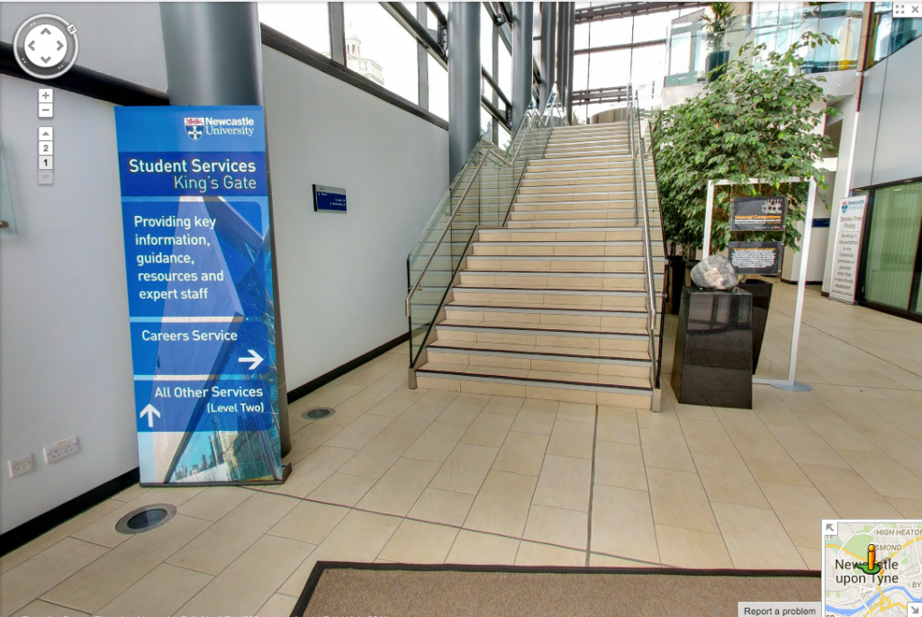 Newcastle University Google Streetview