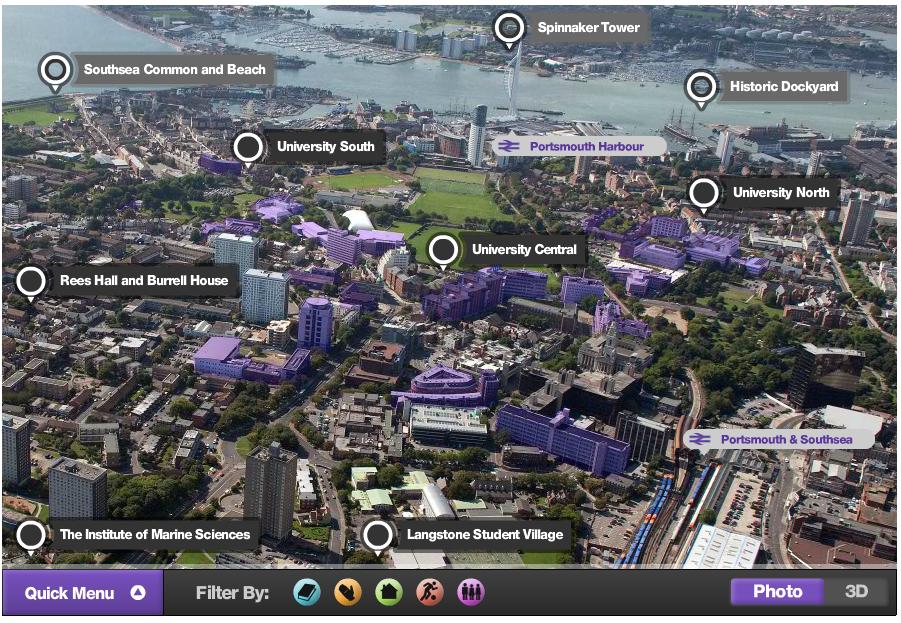 University of Portsmouth virtual tour