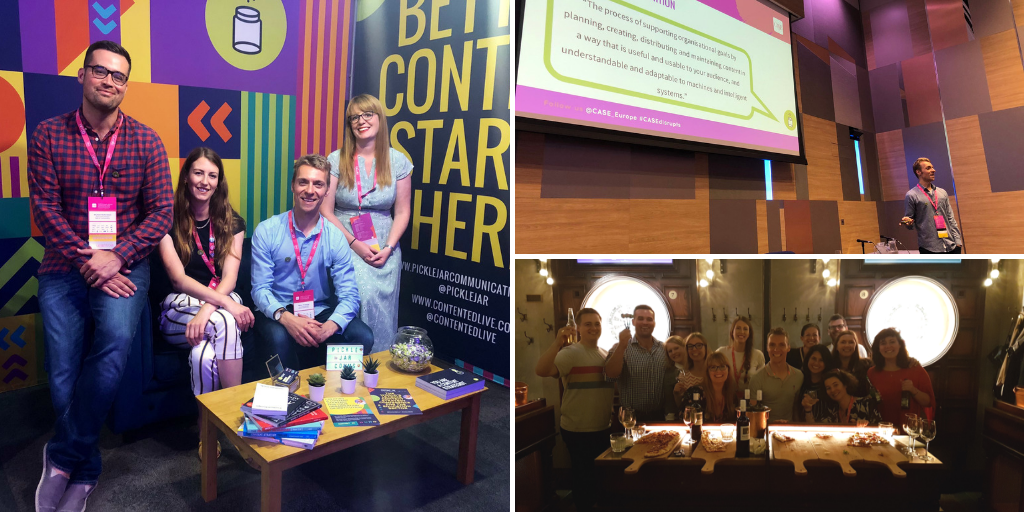 A collage of Pickle Jar staff at CEAC 2019