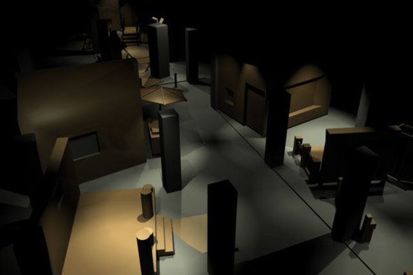 <em>Seduction</em> exhibition design visualization