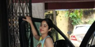 Janhvi Kapoor outside gym