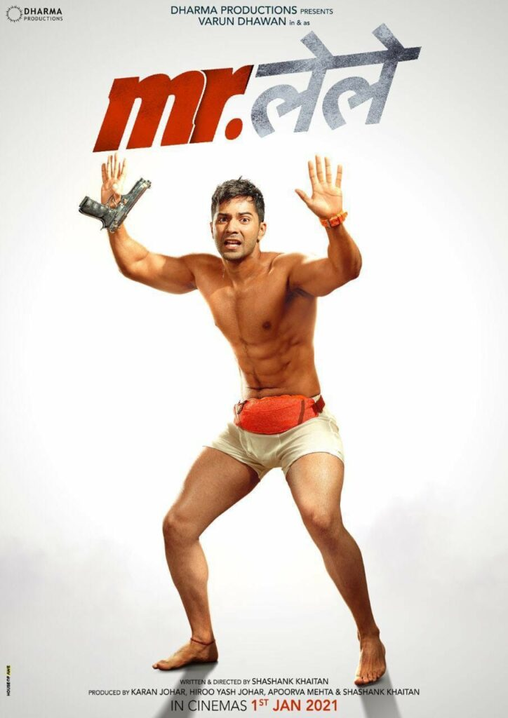 In the hilarious poster of Mr.lele, Varun Dhawan can be seen posing in white shorts with a gun in his hand, flaunting his chiselled body