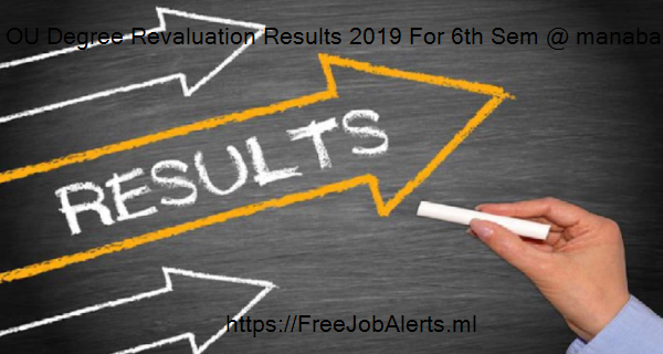 OU Degree Revaluation Results 2019 For 6th Sem @ manabadi, osmania.ac.in 4