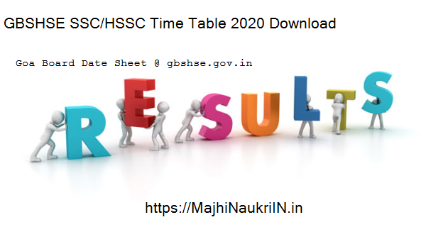 GBSHSE SSC/HSSC Time Table 2020 Download 5