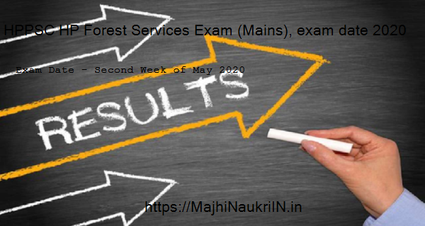 HPPSC HP Forest Services Exam (Mains), exam date 2020 4