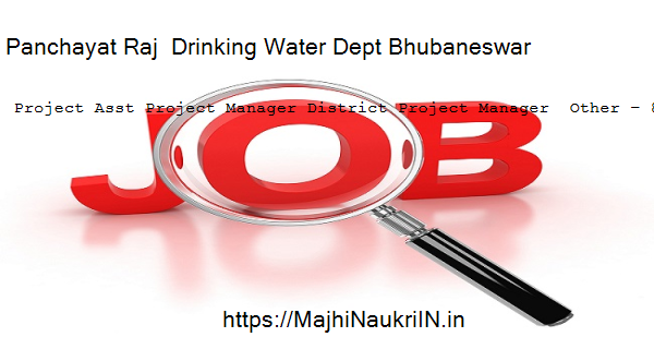 Panchayat Raj  Drinking Water Dept Bhubaneswar vacancy for Project Asst Project Manager District Project Manager  Other – 817 Posts, Recruitment 2020 4
