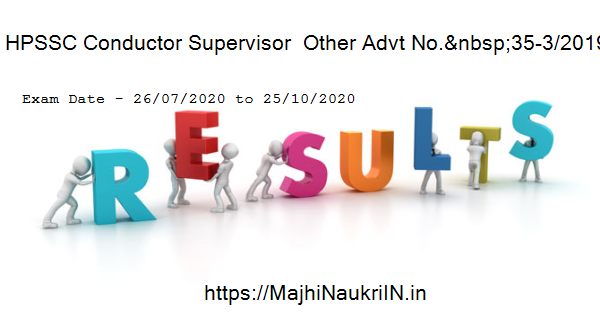 HPSSC Conductor Supervisor  Other Advt No. 35-3/2019 (Screening Test), exam date 2020 4