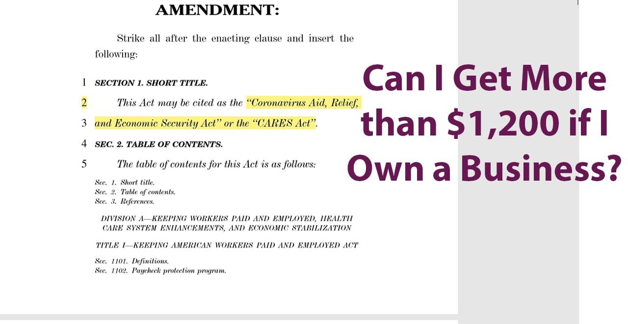 CARES Act SBA Loans