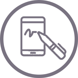 Sign the contact icon