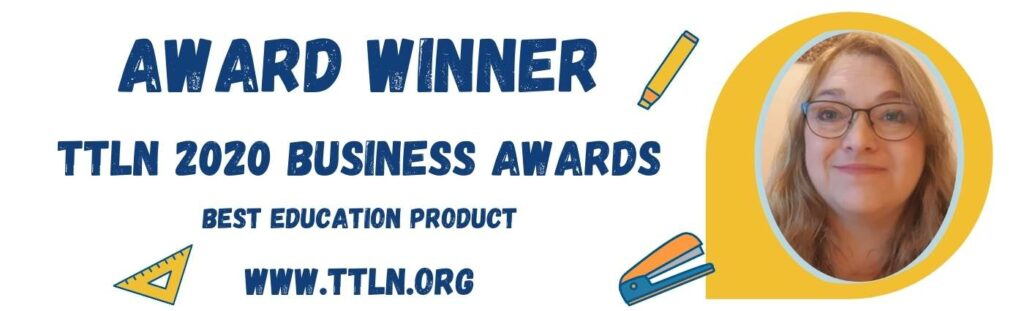Award winner TTLN 2020 Business Awards Best Education Product Banner