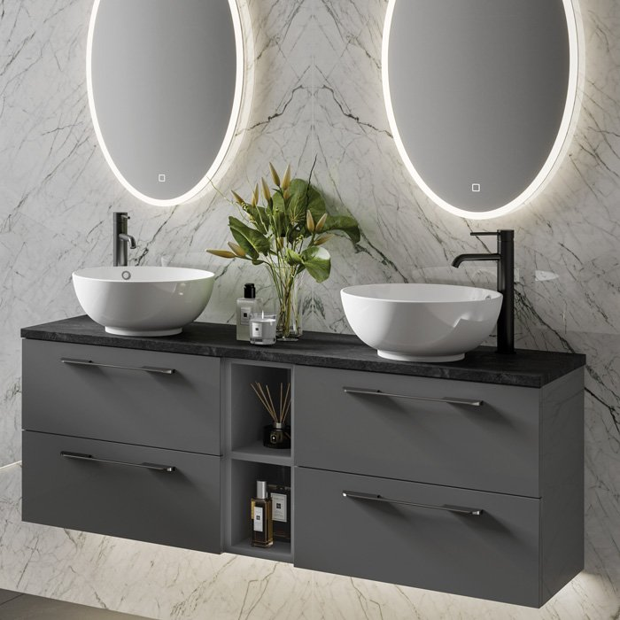 Link Wall Hung Units - Gloss Anthracite