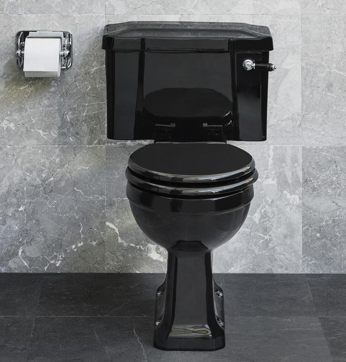 Standard CC WC with 520 Lever Cistern - Jet Black