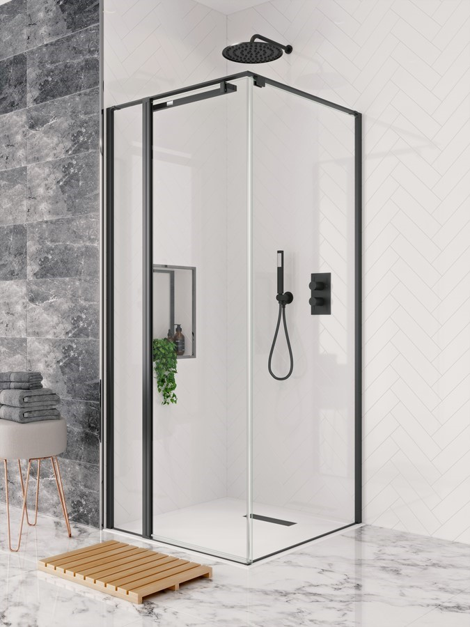 Design Pivot Door Matt Black