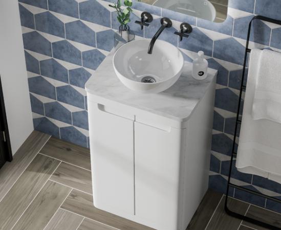 Camber Floor Standing Unit - Gloss White