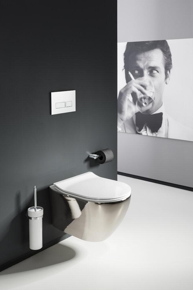 Svelte Platinum Wall Hung Toilet