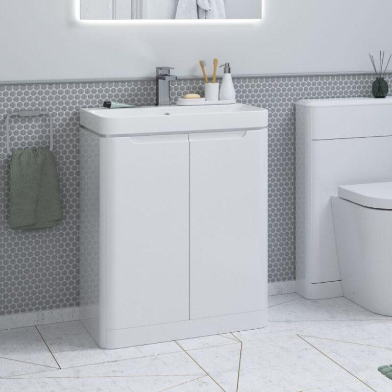 Lambra Floor Standing Unit - Gloss White