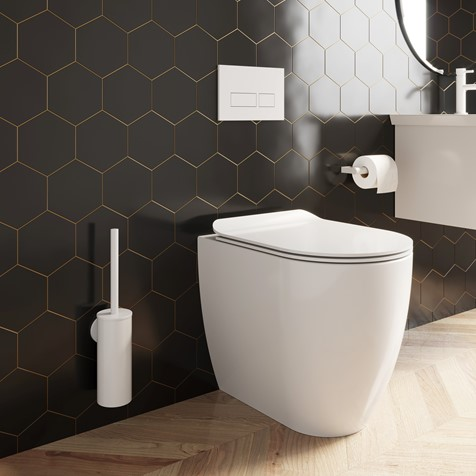 Glide II Gloss White Back to Wall Rimless Toilet