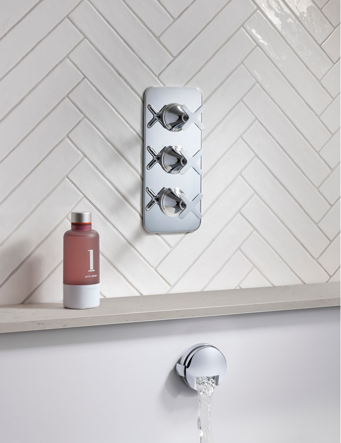 Totti II Thermostatic Shower Valve with 2 Way Diverter