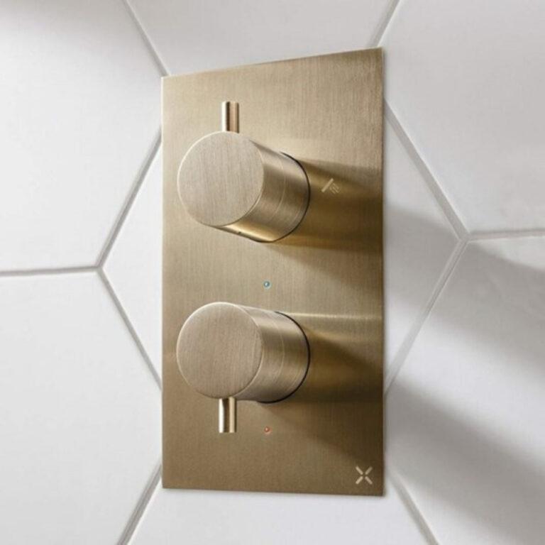 MPRO Shower Valve Brushed Brass