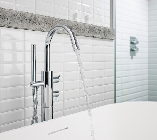 Kai Lever Thermostatic Bath Shower Mixer with Kit