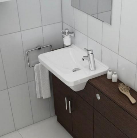 S50 Square Compact Semi Recessed Basin
