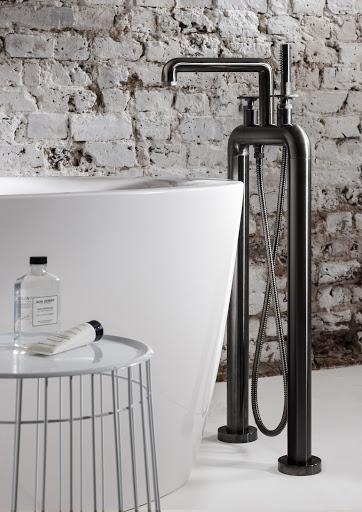UNION Free Standing Bath Filler & Shower Kit Matt Black