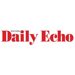newspaper daily echo logo baseball 1st base