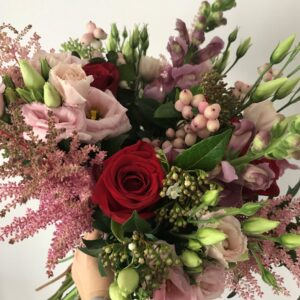 Pink and red gift bouquet