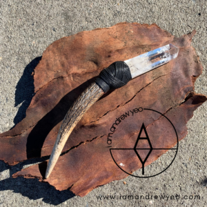 The Clear Quartz and Deer Antler Wand