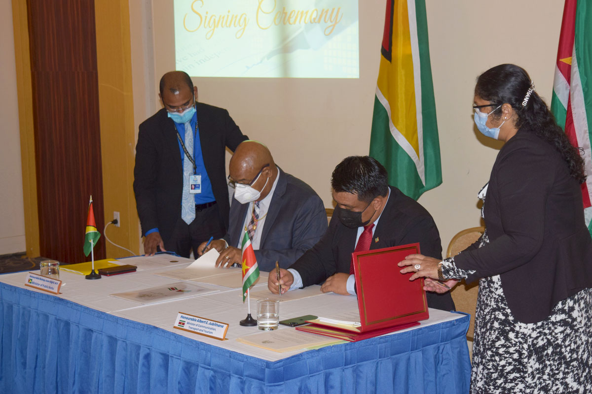 Guyana Signs Historical Air Service Agreement with Suriname