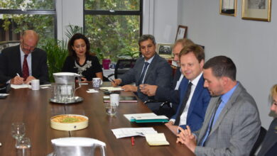 Photo of تستضيف IBBC اجتماعاً مع السيد ستيفن هيكي ، سفير جلالة الملك المعين لدى العراق