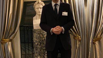 Photo of السيد توباياس ايلوود، عضو مجلس العموم البريطاني يتحدث في عشاء مجلس الاعمال العراقي البريطاني IBBC