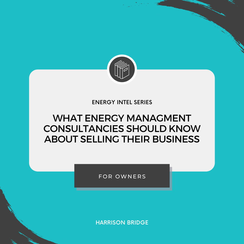 Title Card: Energy Intel energy management consultancies selling buisness