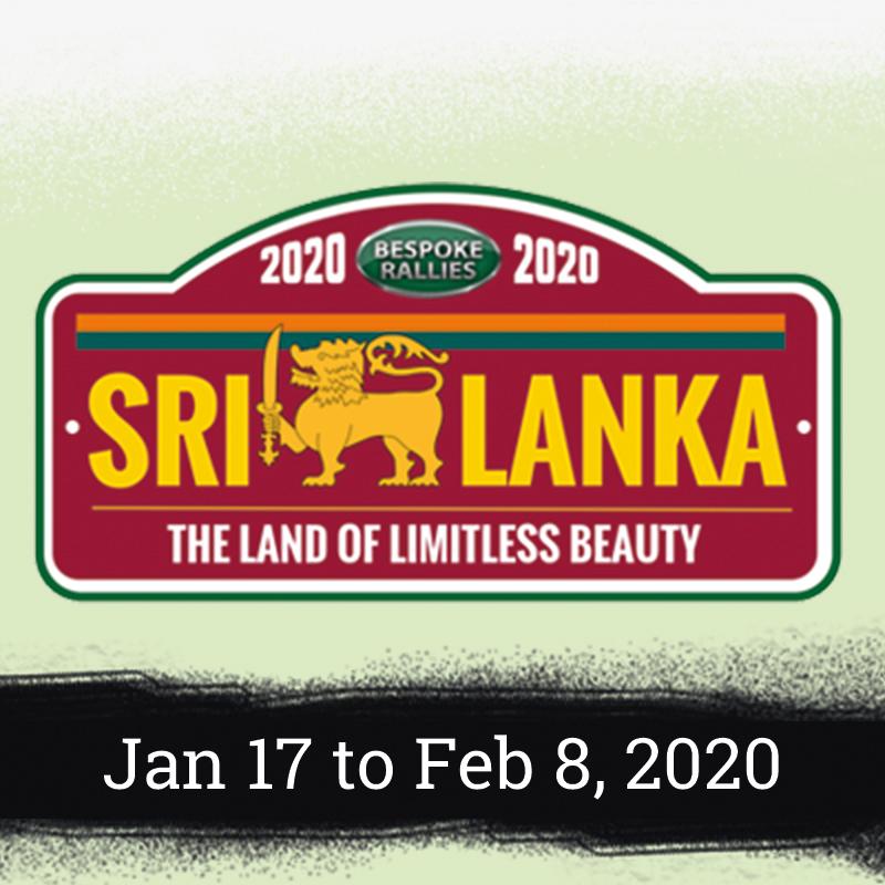 Bespoke Rallies - Sri Lanka Rally 2020, Worldwide Classic Car Rally & Touring Events