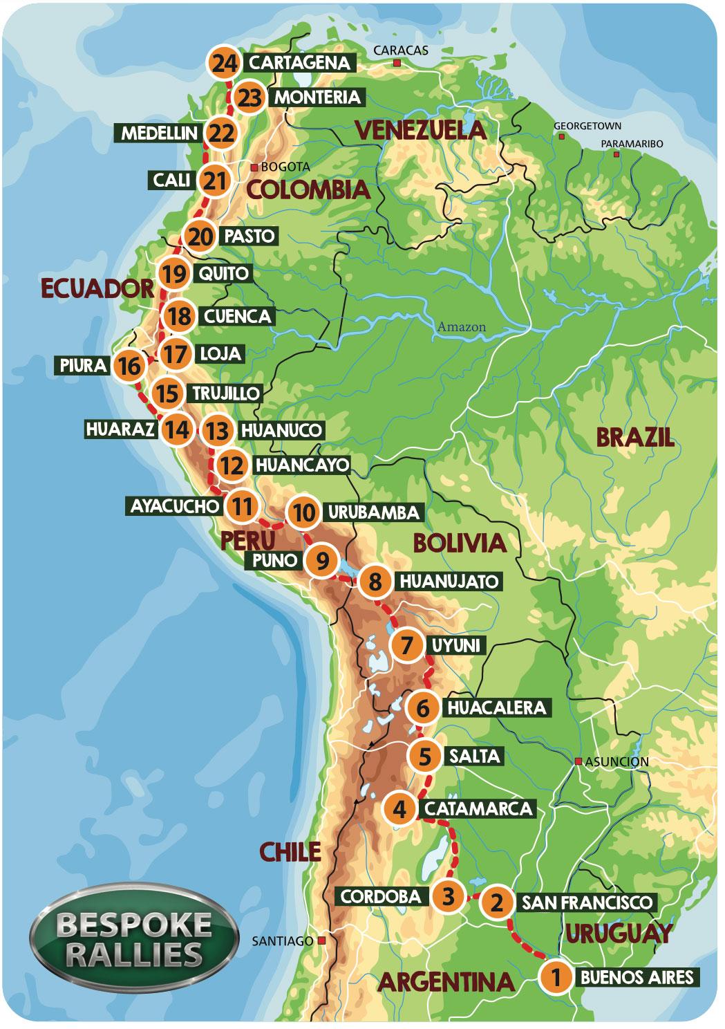 Rally Live: Bespoke Rallies | Grand Prix of South America | Classic Car Rally