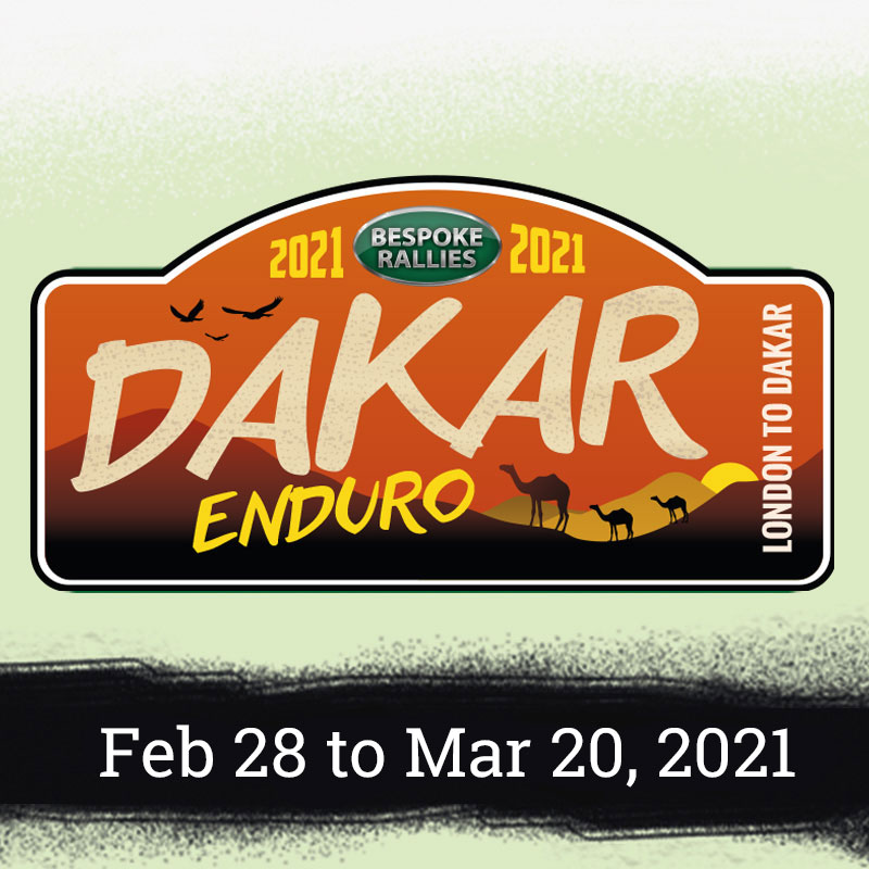 Bespoke Rallles | Dakar Enduro Rally 2021 | Classic Car Rally & Touring Event | February - March 2021