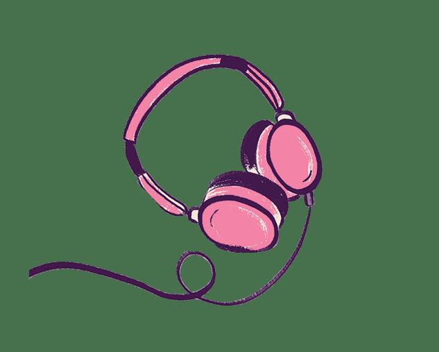 איור אוזניות