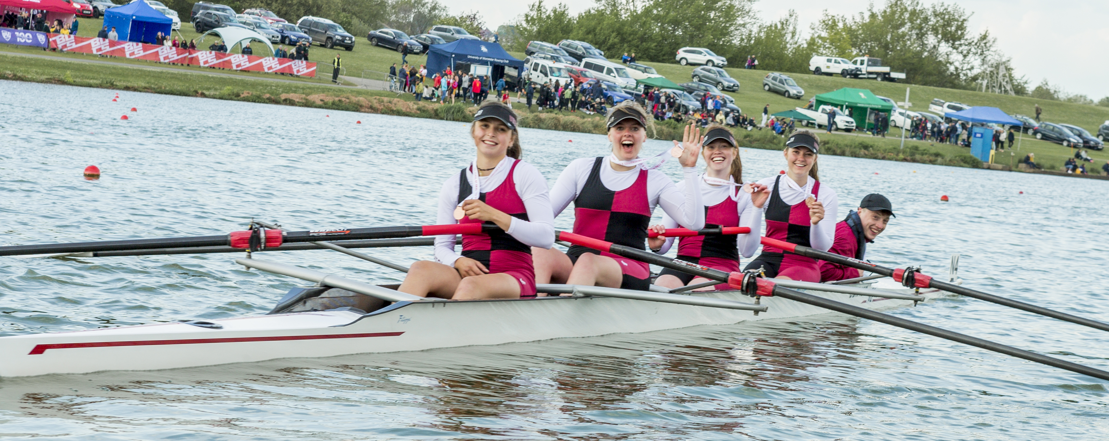 Elation for the Women's Beginner Coxed Four.