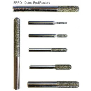 Electroplated Routers 3ø - 25ø Dome End, Flat End & Tapered